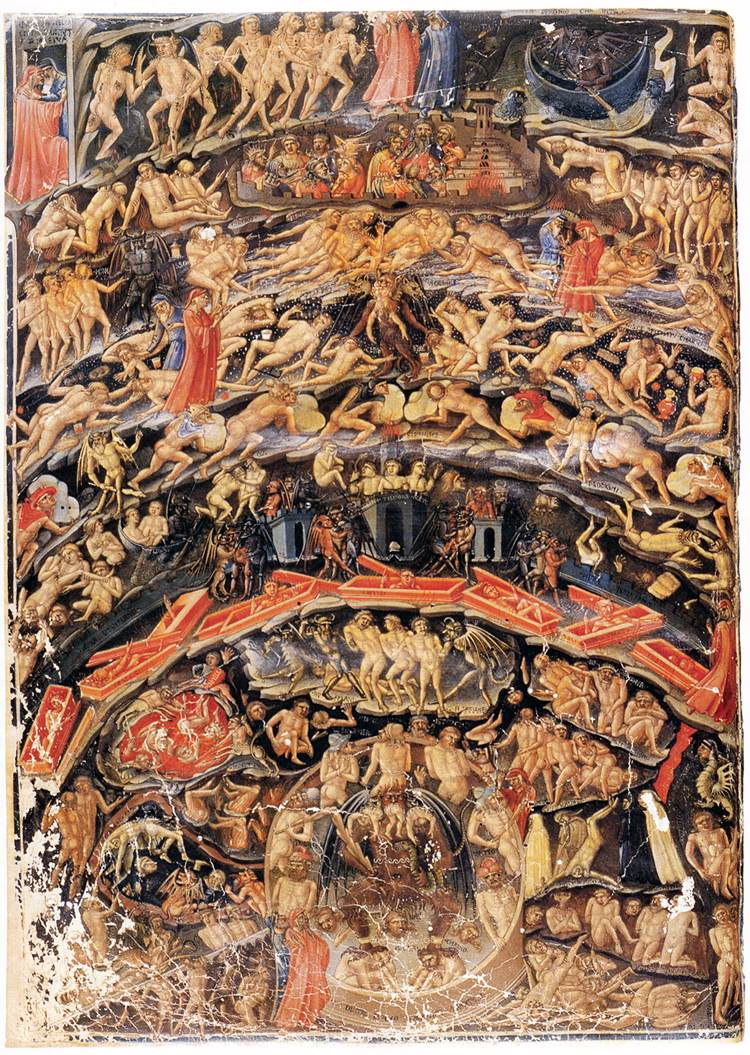 dante  old maps of hell
