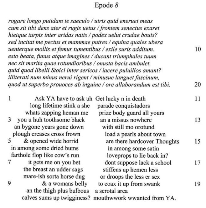 Comparison: Sample Essay, Two Poems