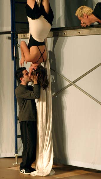 Troilus and Cressida in Stephen Wangh's aerial production