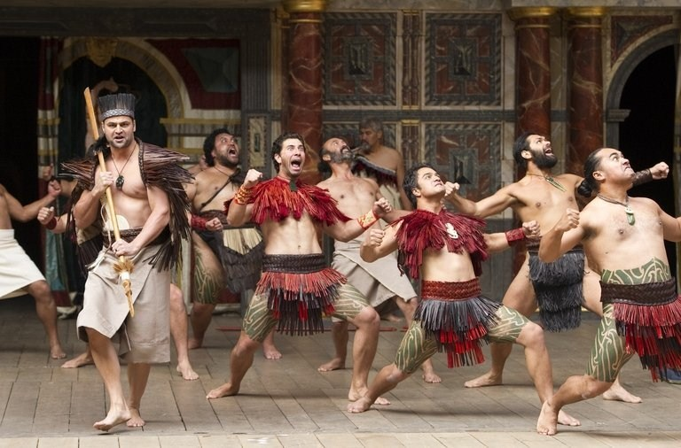 From a Maori production of Troilus and Cressida